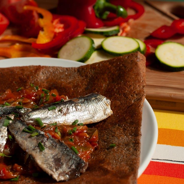 galette bretonne sardine